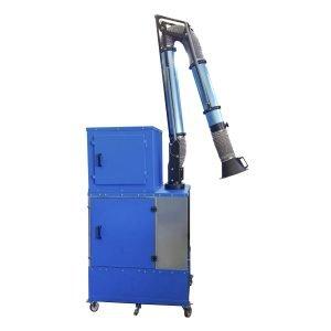 Filtri carrellati e trasportabili per nebbie di emulsione con braccio aspirante e box di insonorizzazione - GGE impianti di aspirazione industriale