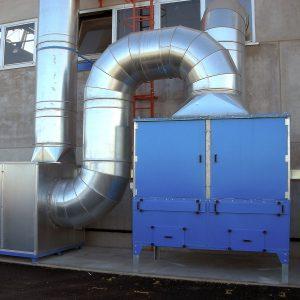 AIRSOL CARB Filtri a carbone attivo GGE progettazione e realizzazione di impianti di aspirazione industriale