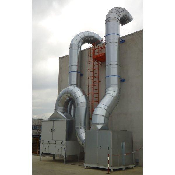 Filtri per fumi e polveri di saldatura, impianri di aspirazione industriale GGE