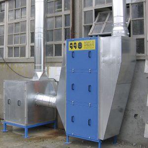 Filtri per aspirazione fumi di saldatura. GGE aspirzione aria industriale