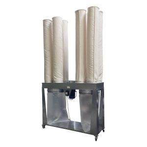 Filtro a maniche multiple con aspiratore integrato da GGE