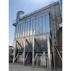 Filtri a maniche con coclea e rotocella motorizzate. gge realizza filtri per impianti centralizzati di aspirazione aria industriali