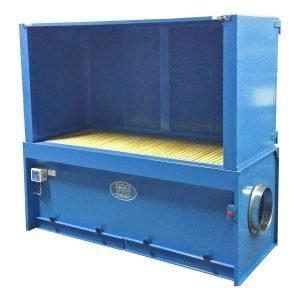 progettazione e produzione banchi aspiranti cabinati con cartuccia filtrante. gge aspirazione aria industriale