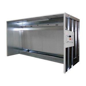 Cabine di aspirazione per verniciatura a velo d'acqua. GGE