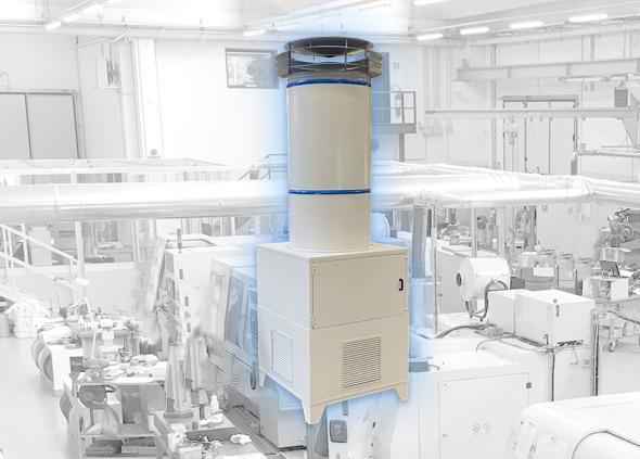 AIR-PURO Industrial air purifier for large environments
